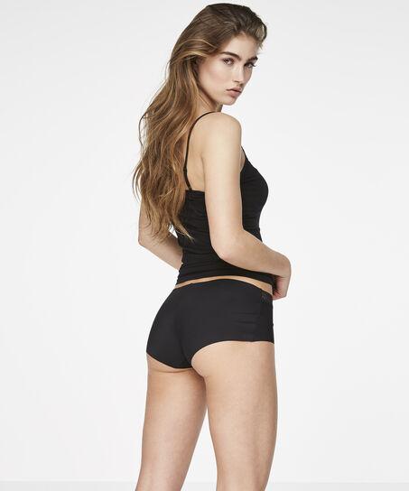 Invisible shorts lace waistband, Zwart