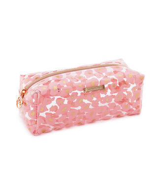 Make up tas leopard, Roze