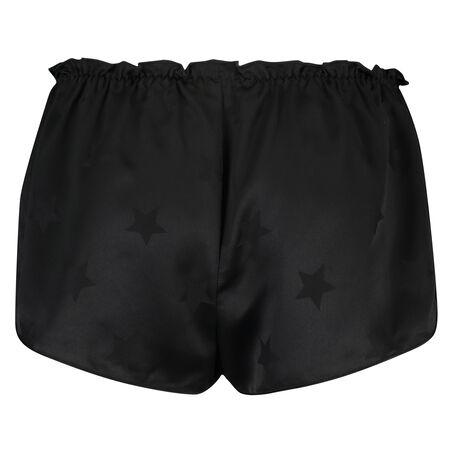 Pyjamashort Satin, Zwart