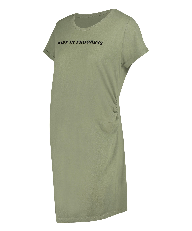Nachthemd korte mouwen Baby In Progress, Groen, main