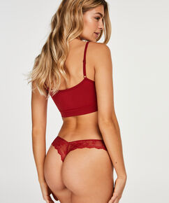 Invisible string Lace back, Rood