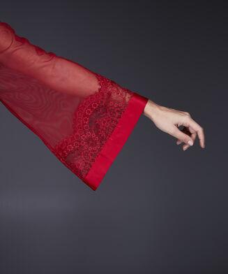 Kimono Mesh lace, Rood