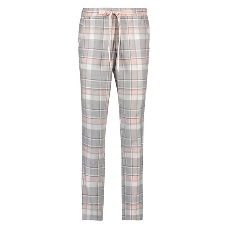 Pyjamabroek Twill Check, Roze