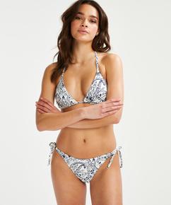 Brazilian tanga bikinibroekje Paisley, Wit