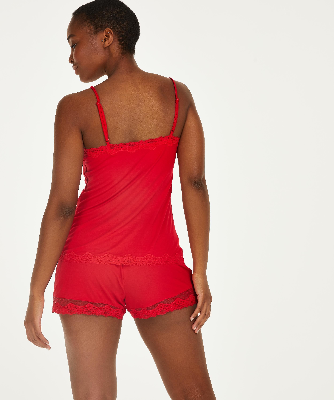 Korte pyjama set, Rood, main