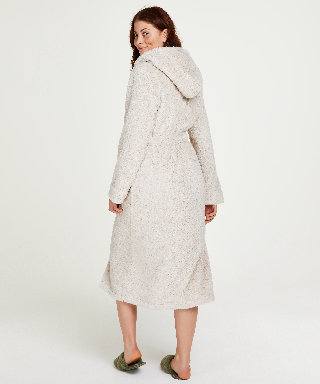 Lange badjas Fleece, Beige, main