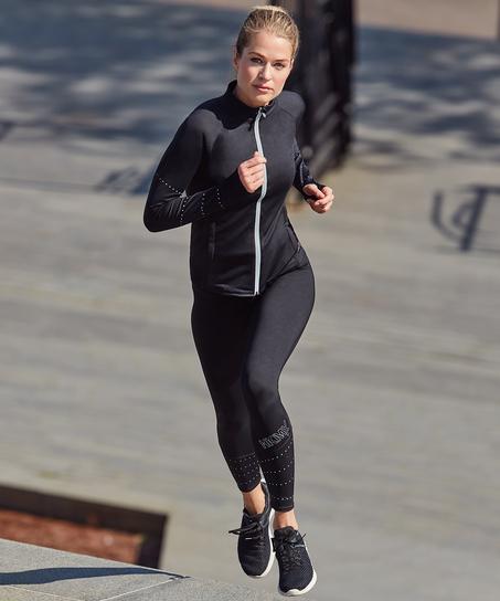 HKMX Run Baby Run Regular Waist Legging, Zwart