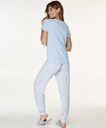 Pyjamabroek Jersey, Blauw