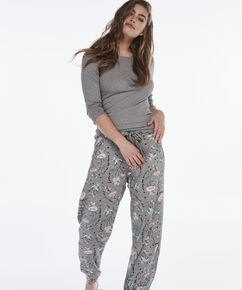 Pyjamabroek Jersey loose fit , Grijs