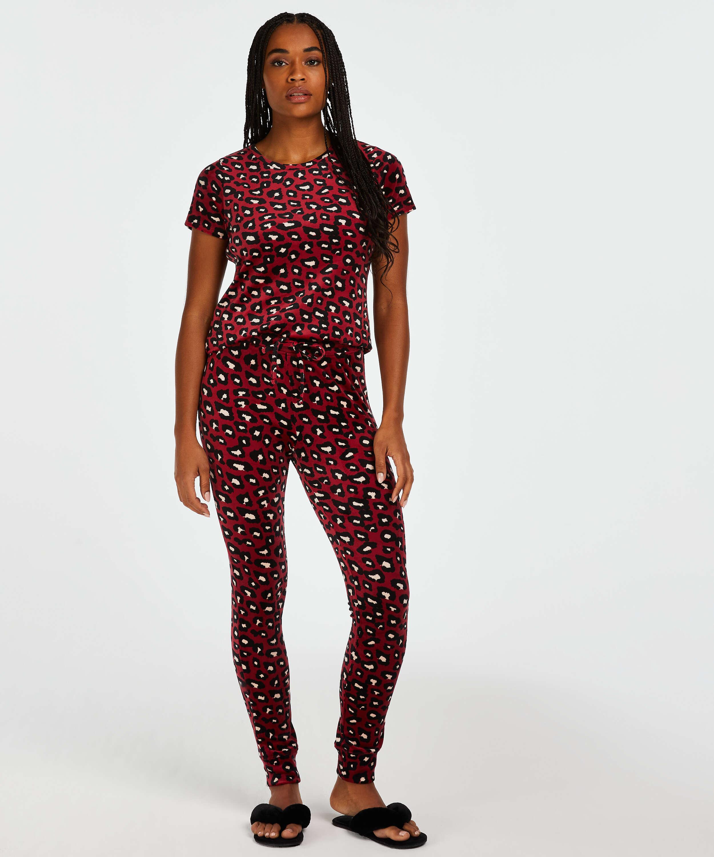 Pyjamatop Velours, Rood, main