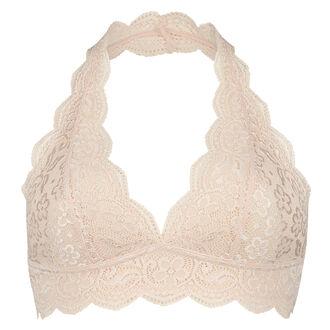 Bralette Halter Lace, Roze