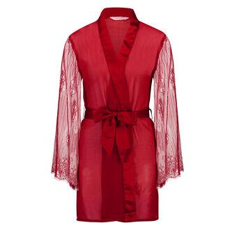 Kimono Chiffon Mesh Lace, Rood