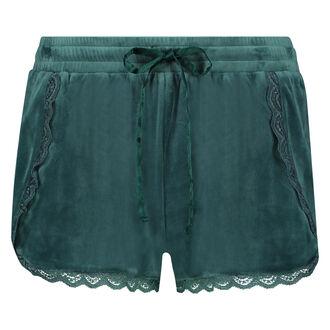 Pyjama short velours, Groen