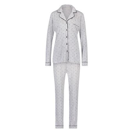 Lange pyjama set, Grijs
