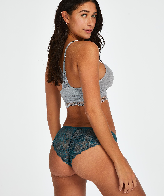 Invisible Brazilian Lace Back, Blauw, main