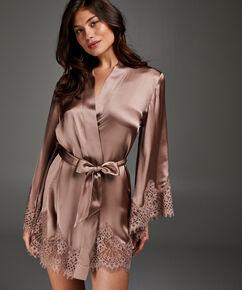 Kimono zijde Scallop Lace, Roze