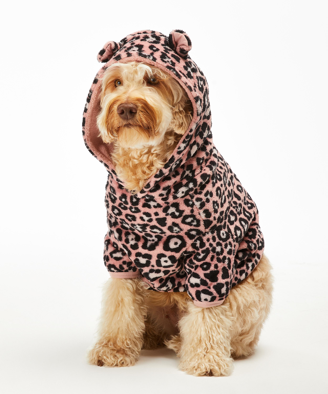 Fleece honden onesie, Roze, main