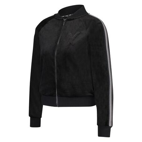 HKMX Vest Velours, Zwart