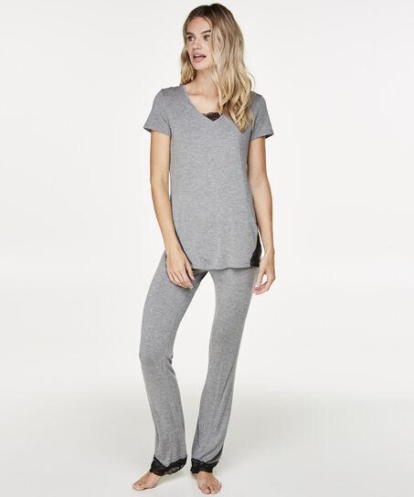Pyjamaset Jersey Lace, Grijs