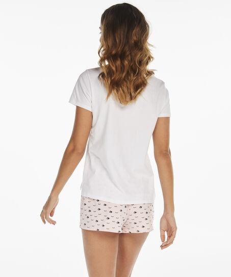 Korte pyjamaset, Wit