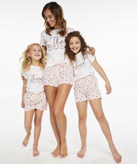 Korte pyjama set Teens, Wit
