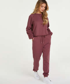Petite pyjamabroek Sweat French, Roze