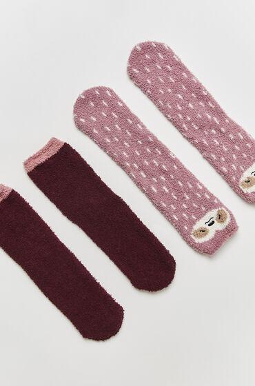 Hunkemöller 2 Paar Cosy Socks Roze