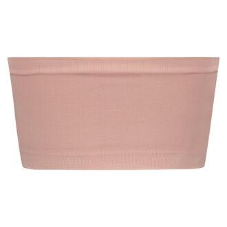 Naadloze bandeau top, Roze