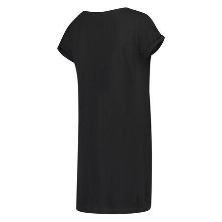 Zwangerschapsnachtshirt met korte mouwen, Zwart