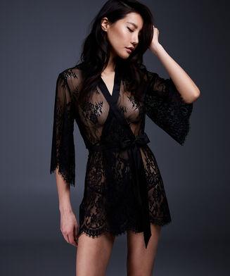 Kimono Lace Isabelle, Zwart