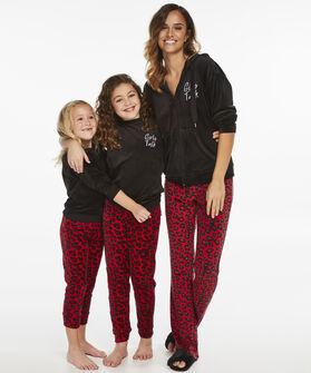 Pyjamaset velours Kids, Rood