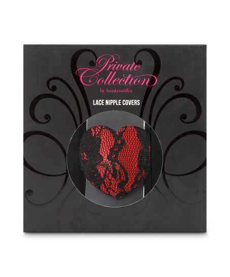Private Nipple Cover Lace, Rood