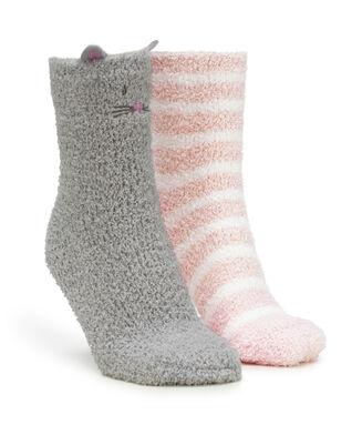 2 Paar Cosy Socks, Grijs