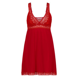 Slipdress Graphic lace, Rood