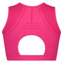 HKMX bikini crop top Roundknit, Roze
