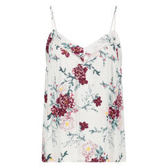 Cami top Woven Floral, Wit