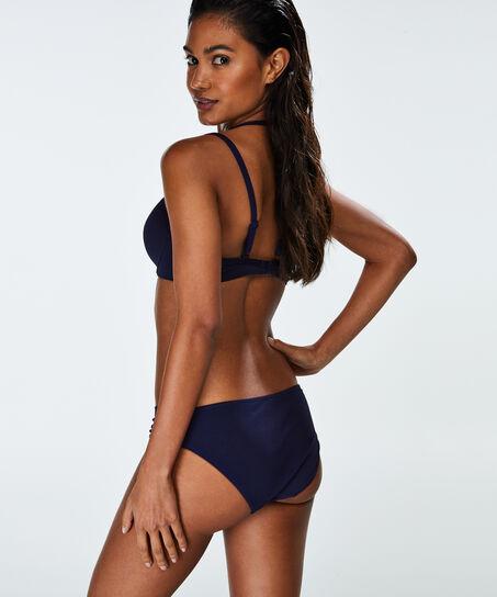 Voorgevormde beugel bikinitop Scallop Glam, Blauw