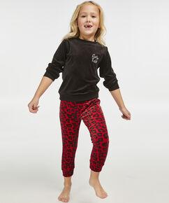 Pyjama set velour kind, Rood