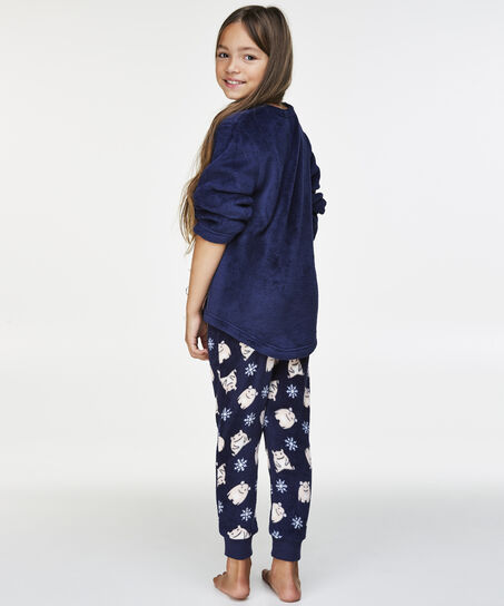 Fleece pyjamabroek Teens, Blauw