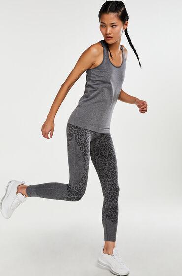 HKMX high waist sport legging roundknit Grijs