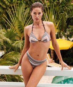 Cheeky bikinibroekje Jacquard Goddess Doutzen, Zwart