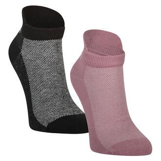 HKMX 2 paar sport sokken Doutzen, Roze