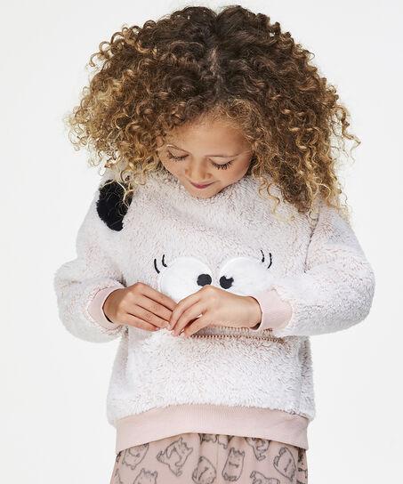Fleece sweater Kids, Roze