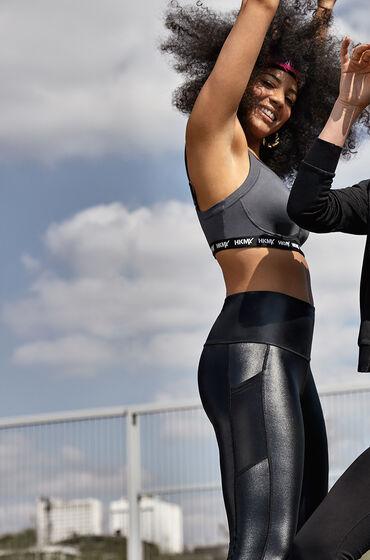 Hunkemöller HKMX high waist sport legging Shiny Zwart