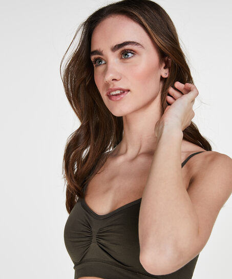 Naadloze strappy top, Groen