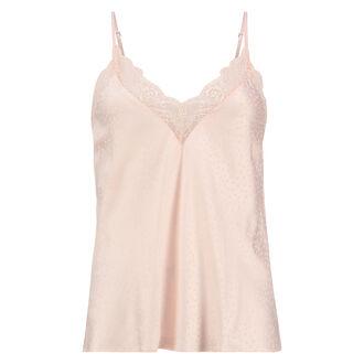 Cami top Satin Lace, Roze