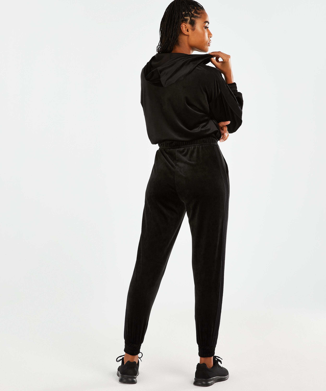 HKMX Sport broek Velours, Zwart, main