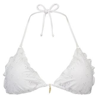 Triangle bikinitop White Iris, Wit