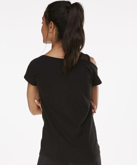 HKMX Korte mouwen sportshirt Branded, Zwart