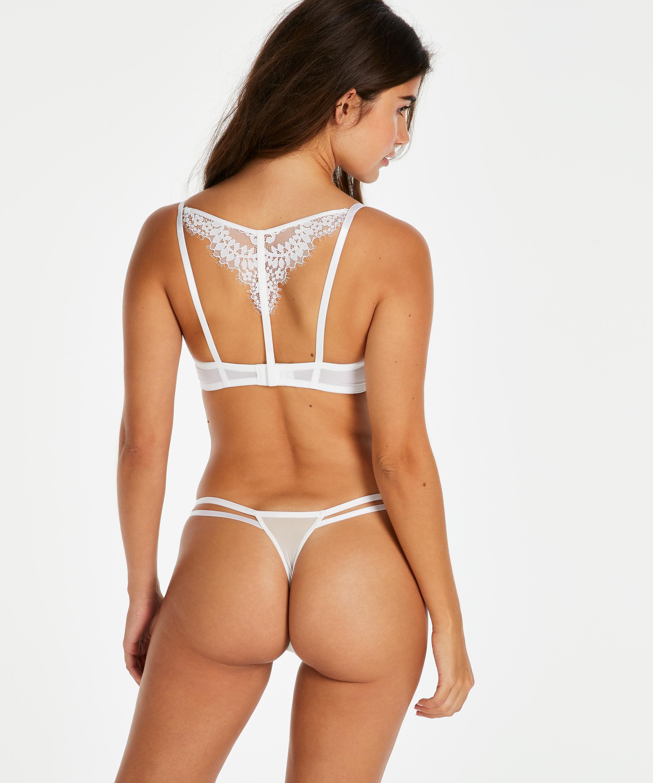Tanga string Leyla, Wit, main